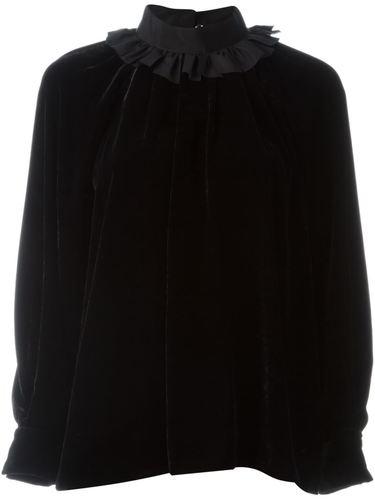 бархатная блузка Fendi