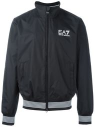 куртка-бомбер с принтом-логотипом Emporio Armani