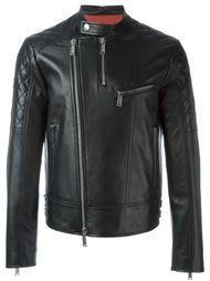 кожаная куртка со стегаными рукавами Dsquared2