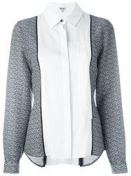контрастная рубашка  Kenzo