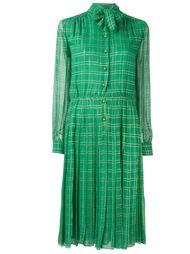 плиссированное платье с бантом Christian Dior Vintage