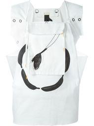 блузка 'B-Word' с карманом-подвеской Bernhard Willhelm