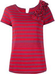 футболка в полоску с оборками  Sonia Rykiel
