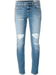 джинсы скинни с рваными деталями Rag & Bone /Jean