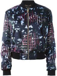 куртка бомбер с леопардовым узором Versace