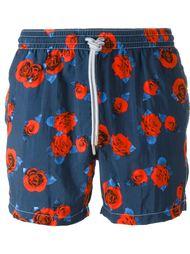 плавательные шорты с принтом роз Capricode