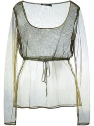 прозрачный топ с длинными рукавами Romeo Gigli Vintage
