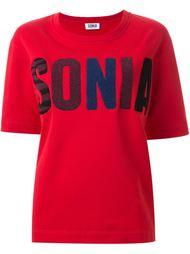 футболка с заплаткой с логотипом Sonia By Sonia Rykiel