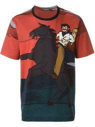 футболка с принтом 'Western' Dolce & Gabbana