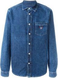 джинсовая рубашка с нагрудным карманом Kenzo