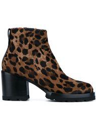 леопардовые ботинки по щиколотку Dries Van Noten