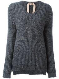 ribbed V-neck jumper Nº21