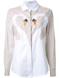 рубашка с принтом лебедей Vivetta