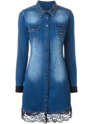 джинсовое платье-рубашка 'Overexposed' Philipp Plein