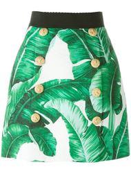 юбка с принтом из парчи  Dolce & Gabbana