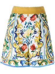 шорты с орнаментом 'Majolica' Dolce & Gabbana