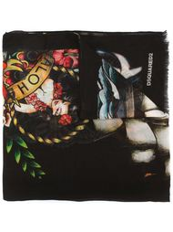платок с принтом татуировок Dsquared2