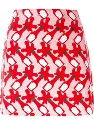 мини-юбка с прином кетчупа Au Jour Le Jour