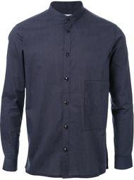 полосатая рубашка с воротником-стойкой Factotum