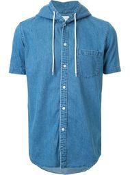 джинсовая рубашка с капюшоном Mr. Gentleman