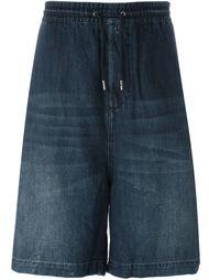 широкие джинсовые шорты Diesel
