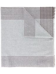 striped border scarf Brunello Cucinelli