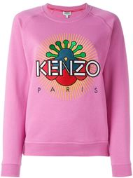 толстовка с вышитым логотипом  Kenzo