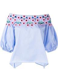 блузка с цветочной вышивкой Peter Pilotto