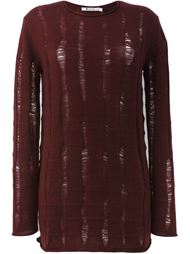 distressed oversized jumper T By Alexander Wang