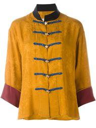 куртка с воротником Мандарин Yves Saint Laurent Vintage