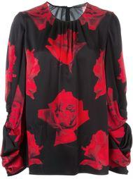 блузка с принтом роз Alexander McQueen