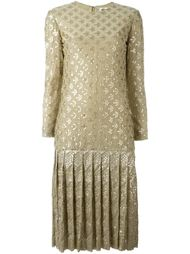 sequinned drop hem dress Christian Dior Vintage
