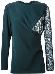 блузка с кружевной вставкой Carven