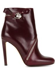 ботинки с асимметричной молнией  Alexander McQueen