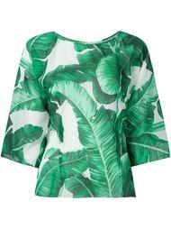 блузка с лиственным принтом  Dolce & Gabbana