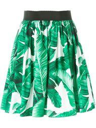 юбка с принтом банановых листьев Dolce & Gabbana
