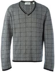 свитер в клетку Dolce & Gabbana Vintage
