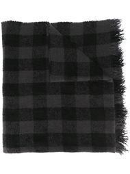 checked scarf Rick Owens