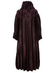 свободное фактурное платье Issey Miyake Vintage