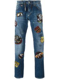 джинсы с нашивками  Philipp Plein