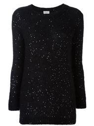 sequin embellished sweater Saint Laurent