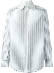 double collar striped shirt Geoffrey B. Small