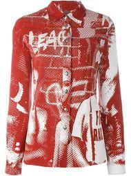 flower power & skinheads print shirt  Jean Paul Gaultier Vintage