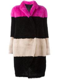 colour block striped coat Blancha