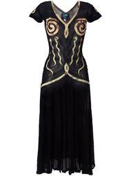 appliqué sheer dress  Jean Paul Gaultier Vintage