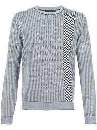 свитер с узором шеврон Calvin Klein Collection