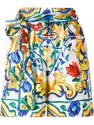 шорты с принтом 'Majolica' Dolce & Gabbana