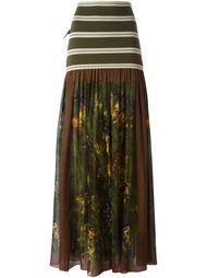 printed ruffle skirt Jean Paul Gaultier Vintage
