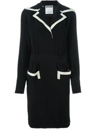 contrast trim tailored dress  Moschino Vintage