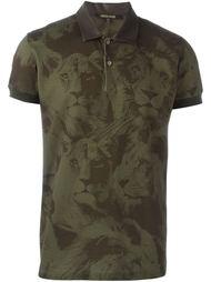 футболка-поло 'Leo Camouflage' Roberto Cavalli